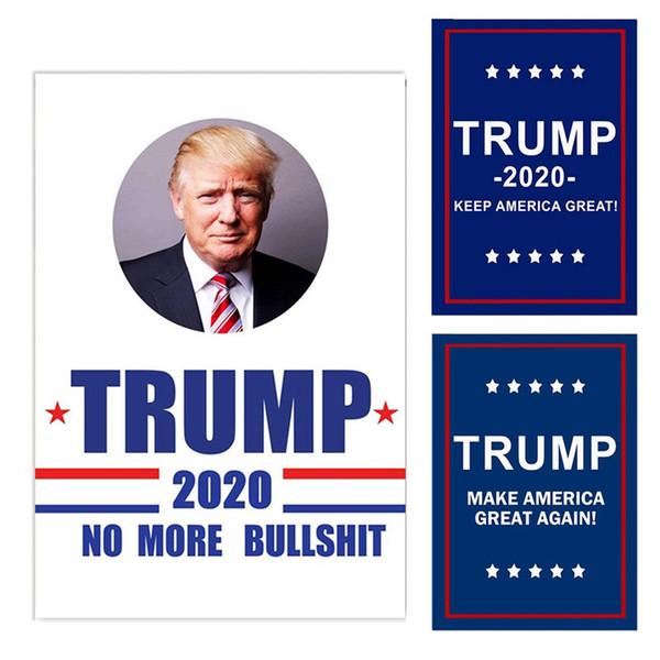 100 pcs Trump Jardim Bandeiras 30 * 45 CM Bandeira Da Eleição Geral do Presidente 2020 Trump Bandeira de Poliéster Pano Bandeiras Bandeiras Da Bandeira