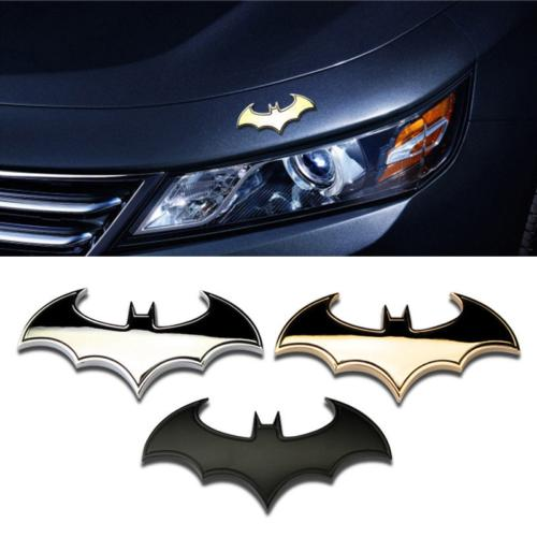 top popular Stylish 3D Metal Personality Bat Auto Sign Car Sticker Metal Batman Badge Emblem Tail Applique 2021