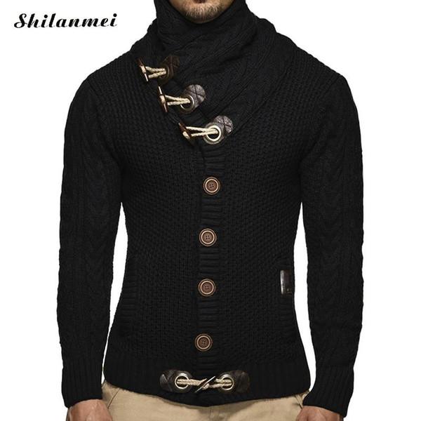 Cardigan Sweater Coat Men Autumn Fashion Solid Sweaters Casual Warm Knitting Jumper Slim Fit Sweater Male Coats Plus Size S-3XL