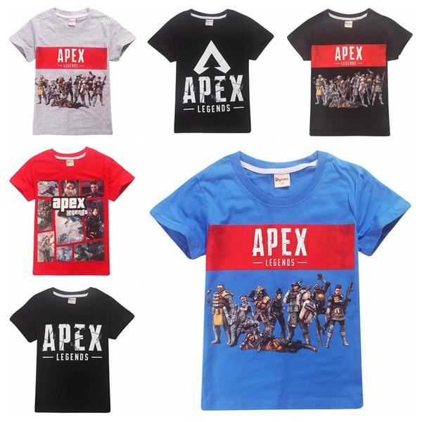 Apex legends Camiseta de algodón para niños Niño grande camiseta de manga corta para niños tops de verano tee clothing 14 estilos Impreso de alta calidad