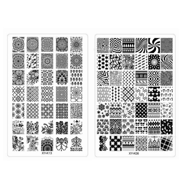 10Pcs Acrylic Nail Art Templates Plastic Lace Flower Snowflake Stamp Polish Nail Stamping Plates 30 Designs for Choice Wholesale