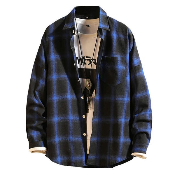 Checkered Men Shirt 2019 Spring Autumn New Long Sleeve Flannel Plaid Shirt Men Office Style Business Casual Shirts