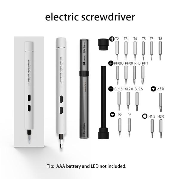 Portátil Profissional Cordless Electric Power chave de fenda Broca Magnetic Screw Driver Set Para Devices pequeno Repair