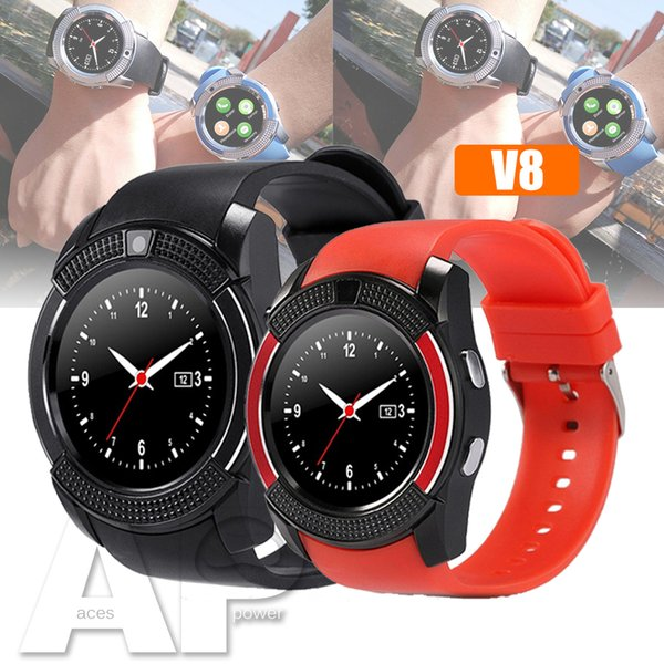 NEW V8 Smart Watch Sport SmartWatch With 0.3M Camera SIM IPS HD Full Circle Display For Android System