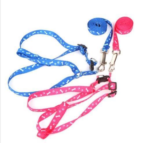 Nylon Haustier Hund Katze Leine Lead Collar Welpe Harness Seil Pet Dog Pup Katze Lead Leasness Harness Brustgurt Großhandel Hund liefert Klein 1cm