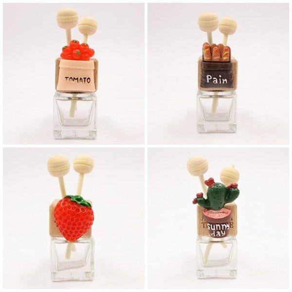 360 Degrees Rotatable Car Outlet Clip Cactus Glass Transparent Perfume Bottle Air Freshener Bottles Party Favor 7 8mk E1