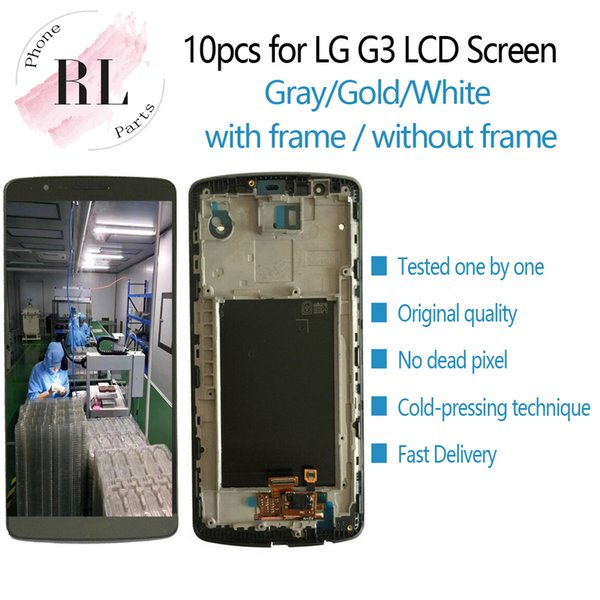 Original LCD display for LG G3 LCD screen with touch screen frame digitizer assembly Replacement for LG G3 D850 D851 D855 LCD screen