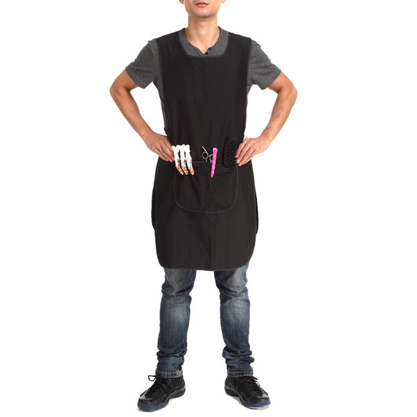 91x50cm Pro Salon Barber Hairstylist Cloth Hairdressing Hair Cutting Apron Cape For Barber Hairdressing Black Work Clothes Wrap