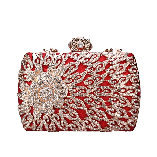 Pink sugao crystal Luxury evening bag shoulder bag Bling party purse Top diamond Boutique Gold silver women wedding Day clutch handbag