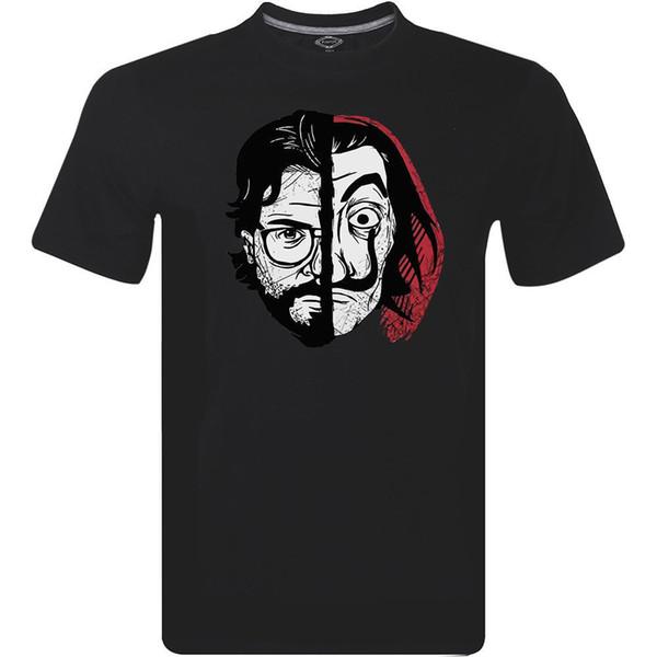 T-shirt Netflix La Casa De Papel Maschera Coin Professor Professor Dail Uomini M-234XL F291RETRO VINTAGE T-shirt classica