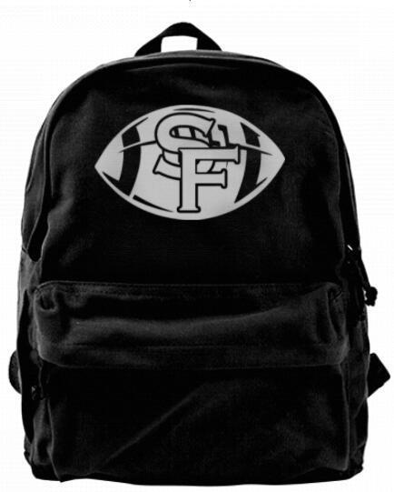 California Football Team Symbol SF Fashion Canvas designer backpack For Men & Women Teens College Travel Daypack Leisure bag Black