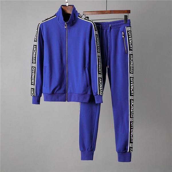 19ss autumn mens sweat suits sets jogger jackets with pants suit hip hop black gray design tracksuits m-3xl 2019 thumbnail