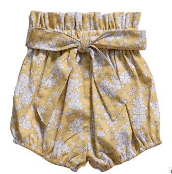 #1 Floral Print Girls Shorts