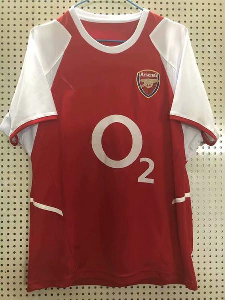 02 03 HENRY Retro futbol formaları ev BERGKAMP PIRES REYES 2002 2003 2004 klasik retro futbol forması maillot de foot