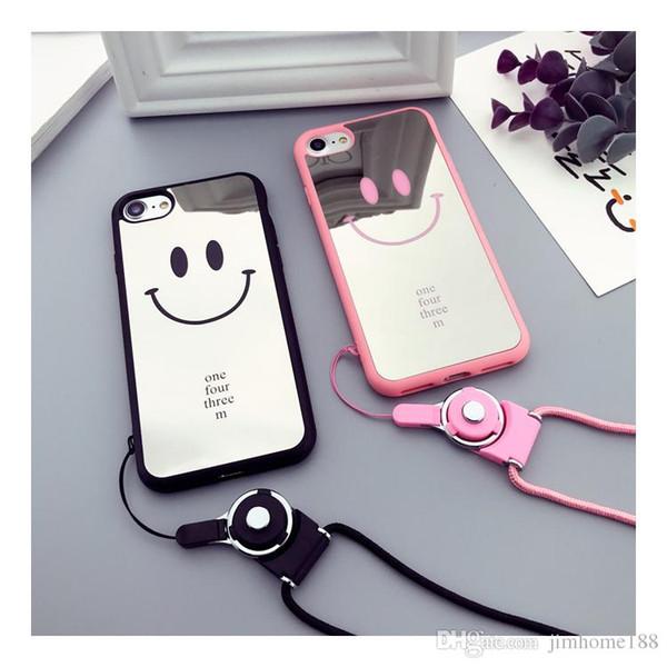 Design di smile Custodie per telefono Invia e cordino Custodia per telefono per iPhone 6 6s 7 8 Plus X XR XS Max