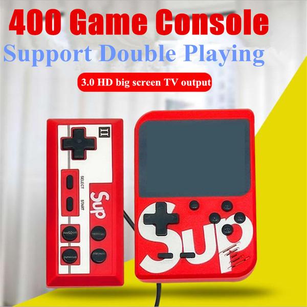 Mini El Retro Taşınabilir Video Oyun Konsolu 400 Oyunları Saklayabilirsiniz 8 Bit 2.8 Inç LCD Fc Oyun Desteği Iki Kişi Oynarken