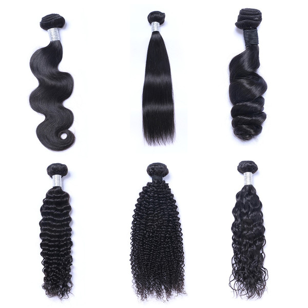 best selling Mink Brazillian Straight Body Loose Deep Wave Kinky Curly Unprocessed Brazilian Peruvian Indian Human Hair Weave Bundles