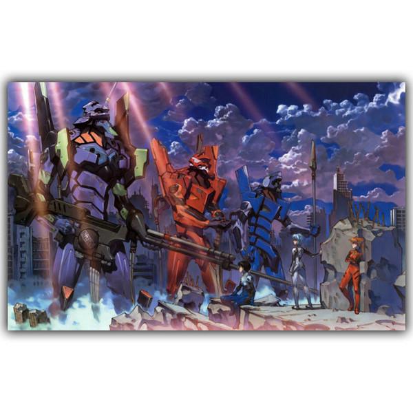 New Evangelion Poster Japanese Anime Cartoon wall decor Art Silk Print Poster 88