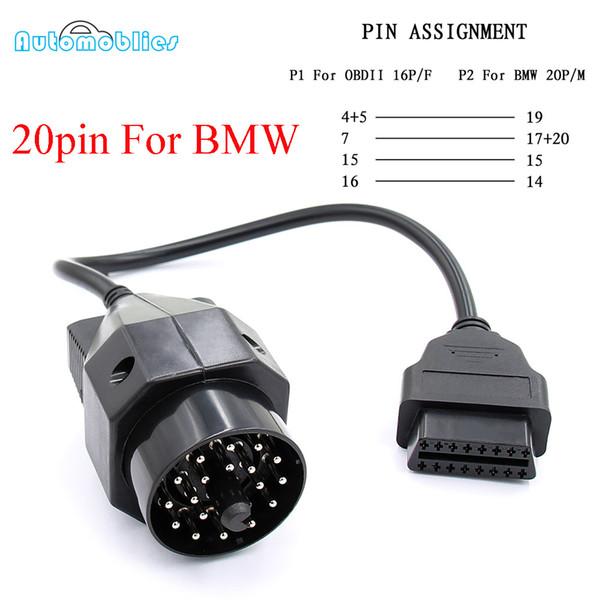 1pc Car OBD Adapter for BMW e36 e39 X5 Z3 Female Connector 20 pin to OBD2 16 PIN