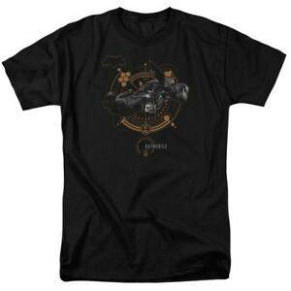 Custom Comics The Justice League Movie Batmobile JL BAT Logo T-shirt S to 5X top