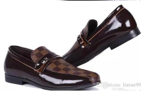 2019 Men Loafers Exquisite Leather Shoes For Man Business Dress Shoes Elegant Shoes Fashion Men's Flats Big Size:EU40-47