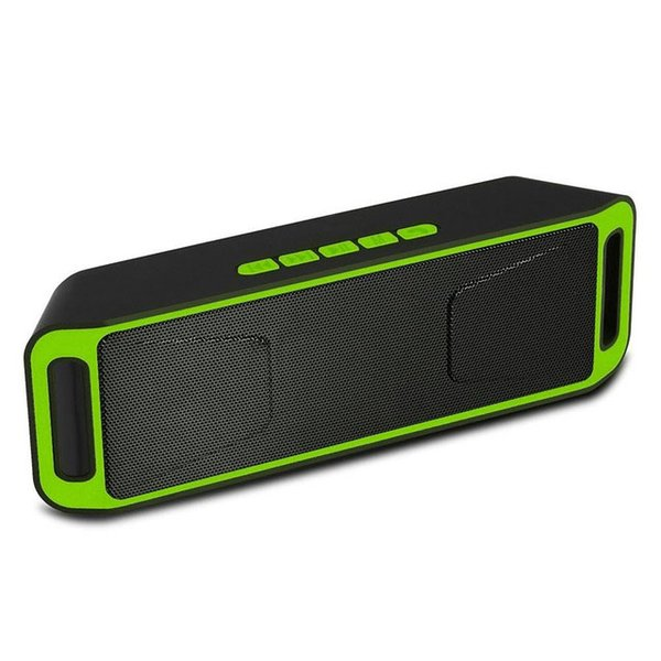 Altoparlanti vivavoce portatili stereo Bluetooth SC208 3D Altoparlanti vivavoce intelligenti senza fili Altoparlante basso di potenza Big Subwoofer TF USB Radio FM