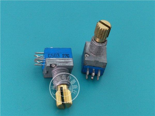 Japon Produit Tocos 9011 Type de joint Double Up C50k Cuivre Potentiometer long manche 15mm fleur Apportez Stepping