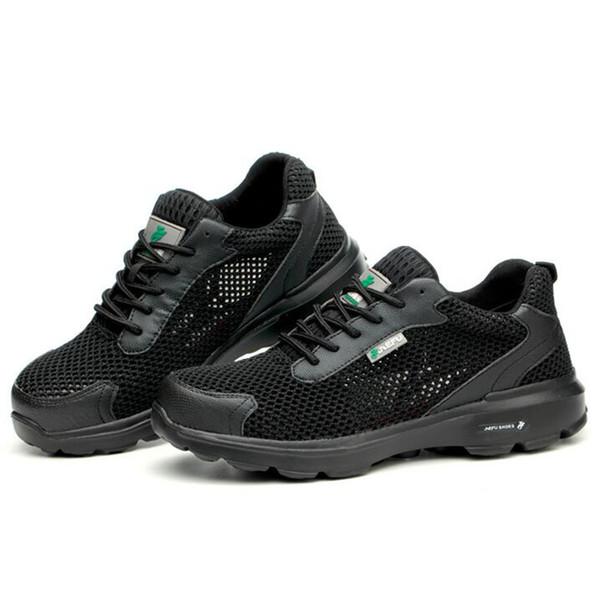 Мужчины случайный большой размер стальной носок рабочая защитная обувь дышащая сетка защитные ботинки человек