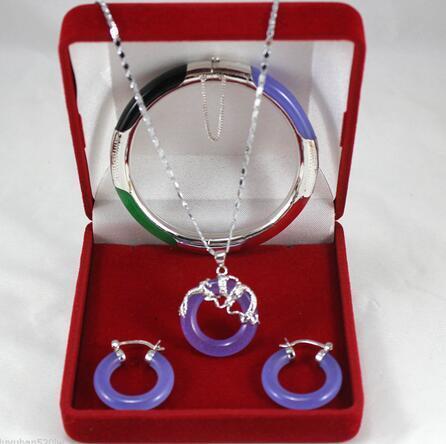 Joyería pendiente del banquete de boda de la manera del pendiente del brazalete del jade del nuevo estilo de la venta caliente