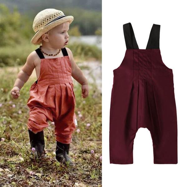 INS bébé combinaison jarretelles infantile bébé garçon vêtements été bébé infantile fille vêtements de designer vêtements nouveau-né barboteuses designer bretelles A7336