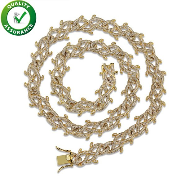 luxury designer necklace mens iced out chains hip hop jewelry bling diamond miami cuban link pandora style charms rapper fashion accessories