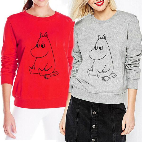 Femmes Mode Sweatshirts Mode en vrac Imprimer Sweat-shirt à manches longues à capuche Creative Pull Casual manteau à capuchon Hauts Pull