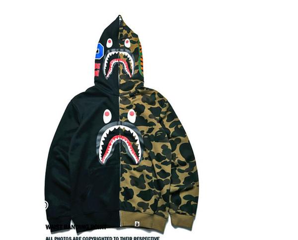 Ceketler Jogging Spor Fermuar Polar Sweatshirt Tişörtleri Ovo Drake Siyah Hip-Hop Stussy Hoodie Erkekler '; S Köpekbalıkları Ağız