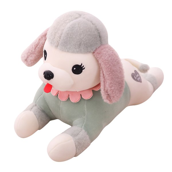 1pc 45-80cm Cute Soft Prone Dog Plush Toy Stuffed Animal Pillow Lovely Cartoon Doll for Kids Kawaii Birthday Gift Present