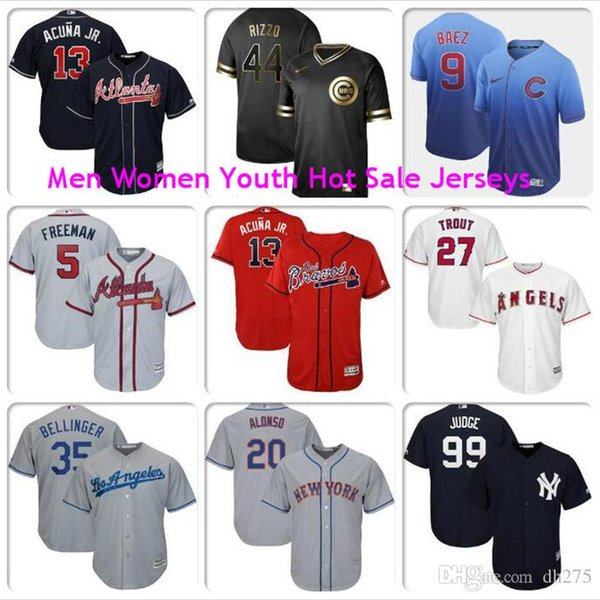 Männer Womens Kinder Aaron Richter Ronald Acuna Jr Freddie Freeman Javier Baez Anthony Rizzo Mike Trout Pete Alonso Cubs Mets Baseball-Fan