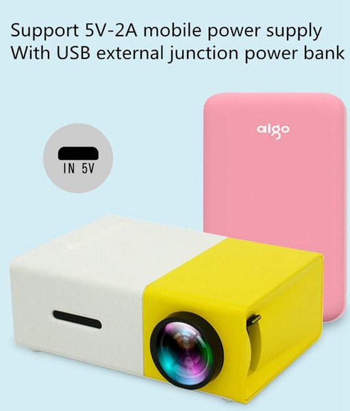 top popular Hot Sale New Paragraph Yg300 Home Mini Mini Projector Led Portable Entertainment 1080 Hd Projector Home Media Player 2019