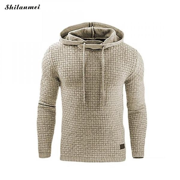 2018 Autumn Men'S Hoodies Slim Hooded Sweatshirts Men Coats Male Casual Sportswear Plus Size Pullover Streetwear  Clothing