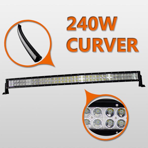 "42"" Inch 240W Curved LED Light Bar for Work Driving Boat Car Truck 4x4 SUV ATV Off Road Fog Lamp Spot + Wide Flood Combo Beam 12V 24V"