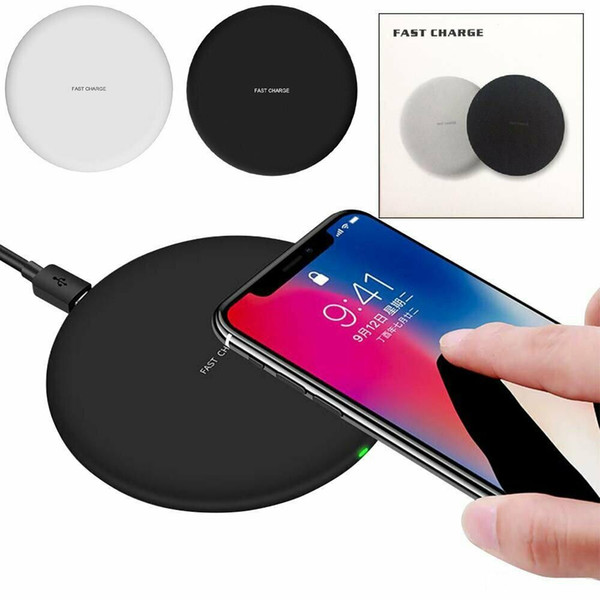 best selling For iPhone X 10 8 8 Plus Portable Qi Wireless Fast Charger Charging Pad Mat Dock