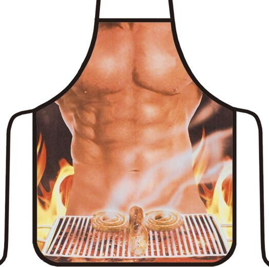 top popular Apron Home Waterproof Multicolor Sexy Women Kitchen Apron Funny Men Aprons BBQ Fashion Apron Sleeveless Waiter Aprons Kitchen Tools Gifts 2020