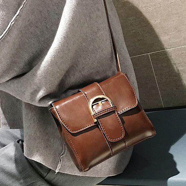 Womens Flap Bag Hasp Bolso Cuadrado Bolsos de Hombro 2019 Nuevo Fasguib Charol Crossbody Bolsa de Teléfono Hombro Femenino Flap bolso