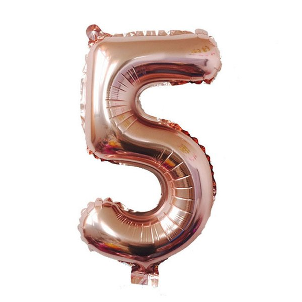 hot sale 40 inch 0-9 rose gold Number balloons gifts Wedding Birthday Christmas Party Decoration Supply Foil Balloons