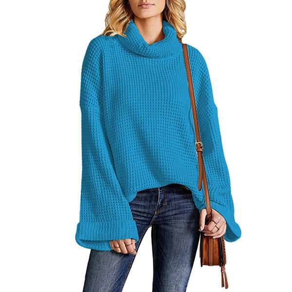 2019 autunno e inverno nuovo maglione di vendita caldo delle donne europee e americane esplosioni ago maglione pullover collo alto