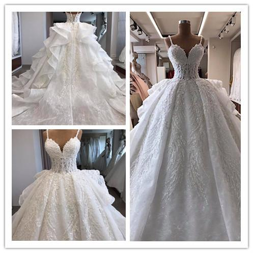 Real Photo White Organza Mariage Vintage Lace Ball Gown Wedding Guest Dresses Cheap abiti da sposa Bridal Gowns South Africa