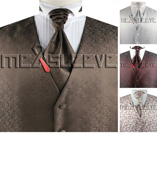 dress/Bridal tailored custom made waistcoat set (vest+ascot tie+handkerchief)