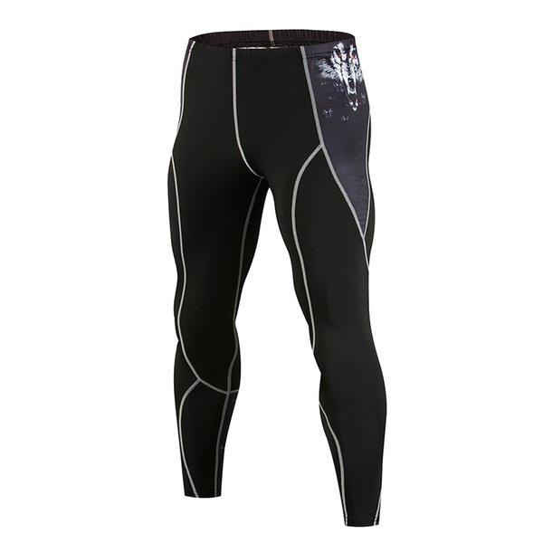 Sales 3D printing compression pants sports tights men's sports tight leggings running pants fitness fitness clothing yoga