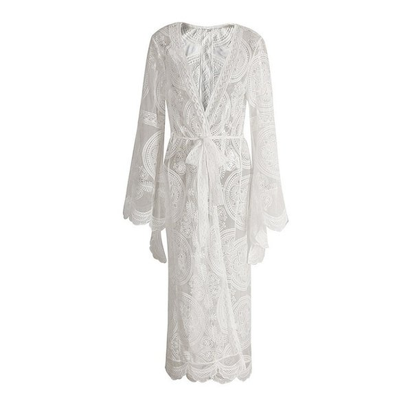 Posimi Second Will Code Suit-dress On Vacation Out Of The Wind Lace Cardigan Long Fund Dress