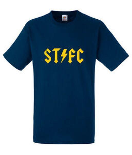 T-shirt bleu marine pour hommes ACDC Football Shrewsbury Design