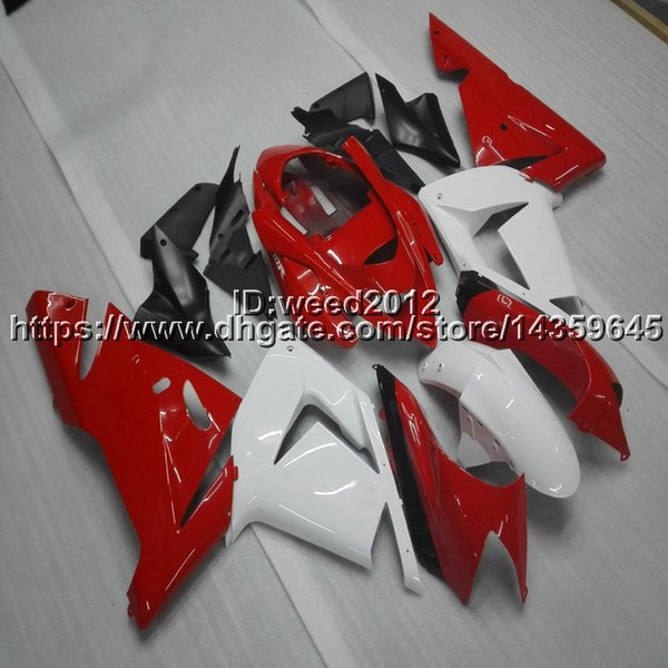 Botls+Custom red white motorcycle panels ABS article body kit for KAWASAKI Ninja ZX10R 2004 2005 ZX-10R fairing