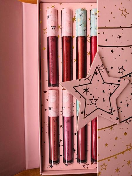 2018 DHL высокого качества 12-цвет цвета губ цвета Christmas Gift Box Lip Рождественские подарки Бесплатная доставка